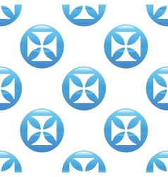 Maltese cross sign pattern vector