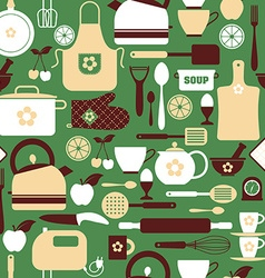Seamless pattern kitchen tools vector