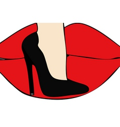 Love of the sensuality of a pair of high heeled sh vector