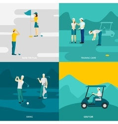 Golf flat set vector