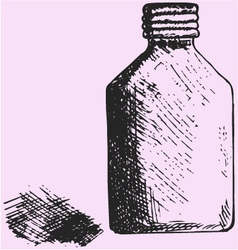 Jar of the medical alcohol vector