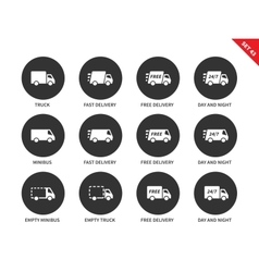 Delivery icons on white background vector