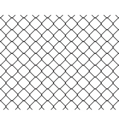 Wire fence seamless texture black silhouette vector