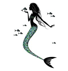 A mermaid silhouette vector image