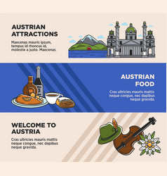 austria tourism travel landmarks and austrian vector image