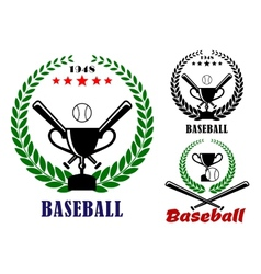 Baseball badges or emblems vector image vector image