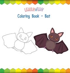 bat coloring book educational game vector image