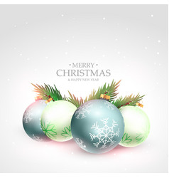 beautiful merry christmas festival greeting vector image vector image