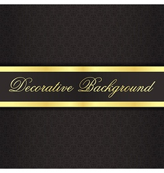 Black vintage background with black ribbon with vector image