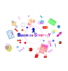 business strategy development concept project vector image vector image