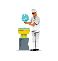 Candy floss chef Cartoon vector image