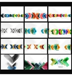 Collection of arrow abstract backgrounds vector image