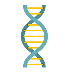 Dna symbol icon isolated vector