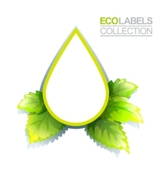 Green Eco Label vector image