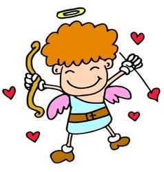 Happy cupid with love cartoon vector