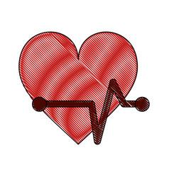 Heartbeat cardio symbol vector