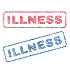 Illness textile stamps vector