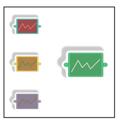 Line graph collection in paper vector