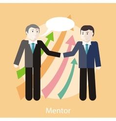 Mentor concept vector