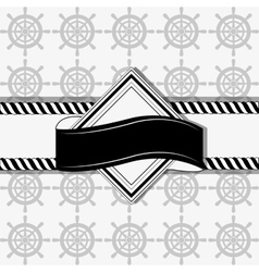 nautical emblem image vector image