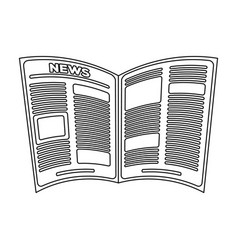 Newspaperold age single icon in outline style vector
