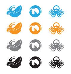 ocean wave octopus vector image vector image
