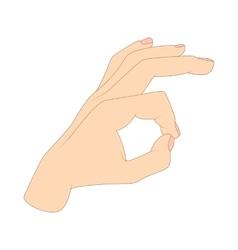 Ok hand symbol icon cartoon style vector