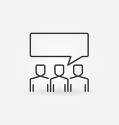 people with speech bubble outline icon or symbol vector image