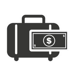portfolio with finance icon vector image