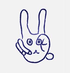 Rabbit finger vector image