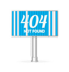 Realistic not found concept billboard vector