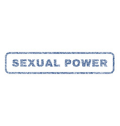 Sexual power textile stamp vector