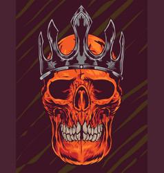 Skull crown vector