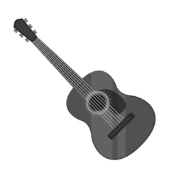 Spanish acoustic guitar icon in monochrome style vector