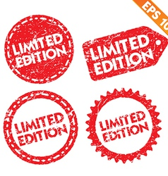 Stamp stitcker Limited edition tag collection - vector image