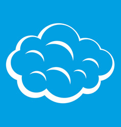 Summer cloud icon white vector