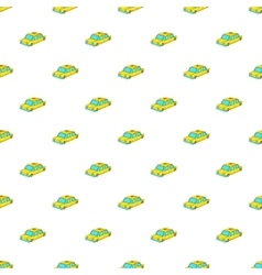 Taxi car pattern cartoon style vector