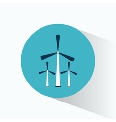 three wind energy generator production vector image