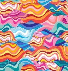 Unusual fantasy bright colorful wavy abstract vector