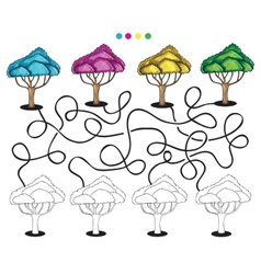 Visual puzzle and coloring page vector image