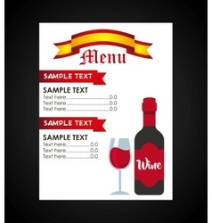 wine drink beverage menu vector image
