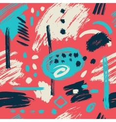 Seamless pattern brush strokes vector