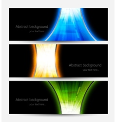 Set of abstract bright banners vector image
