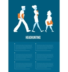 Headhunting banner with business people vector