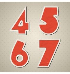 Paper figures vector image