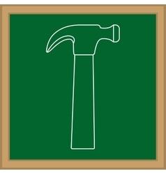 Construction hammer tool vector image