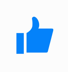 Modern thumbs up icon on white background vector