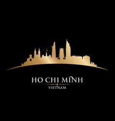 Ho chi minh city vietnam skyline silhouette black vector