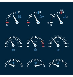 Speedometer interface icons vector
