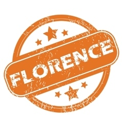 Florence round stamp vector